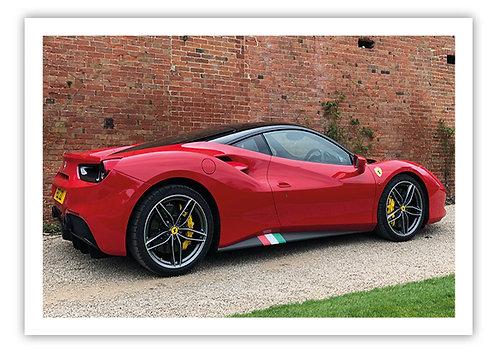 Ferrari 458 - Postcard