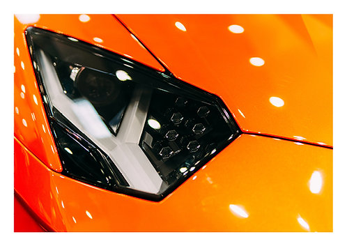 Lamborghini headlights - Postcard