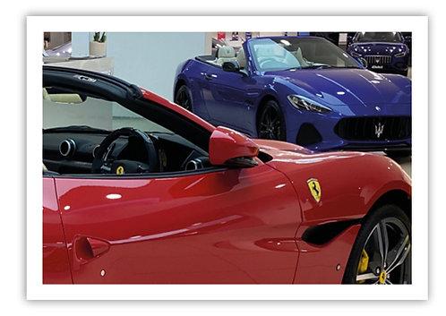 Ferrari Portofino and Maserati GranCabrio - Postcard