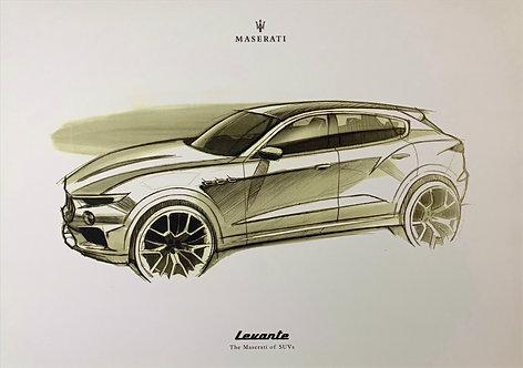 Maserati Levante x 8 - Print