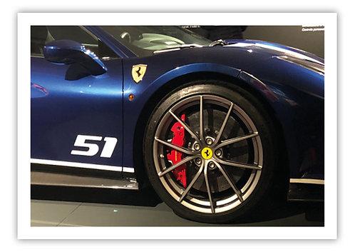 Ferrari 458 Alloy - Postcard