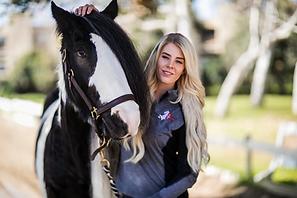 Owner/Trainer: Erin Kennedy an a Gypsy Vanner gelding.