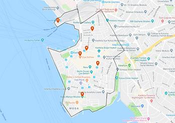 Map of Kadıköy