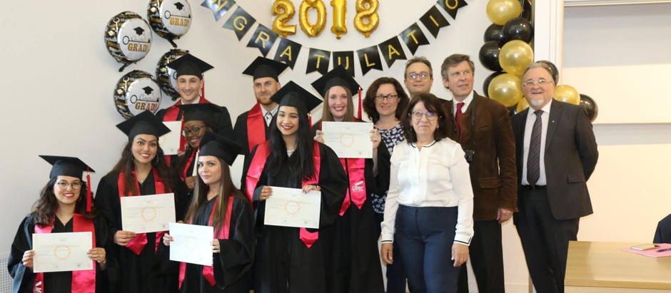 Remise des diplômes de la promotion 2018