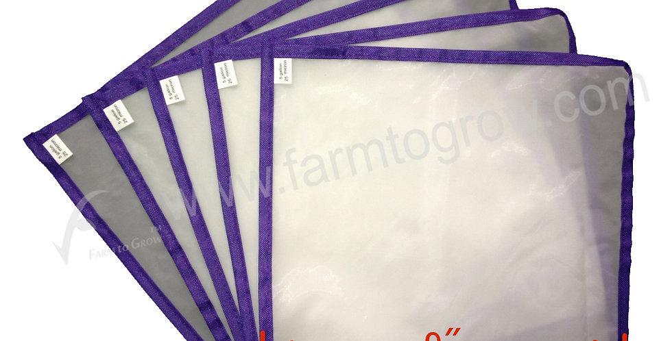 "FARM to GROW 5PCS 9""x9"" 25micron pressing screen for herbal hash bubble ice bag"
