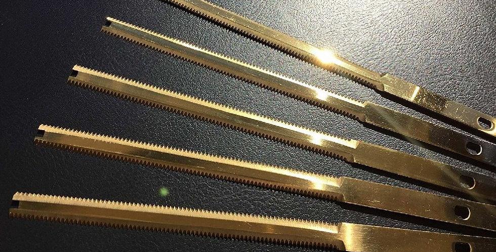 M-6000S 5PCS Razor & 5PCS Serrated TITANIUM COATED Serrat Stainless Cutting Blds