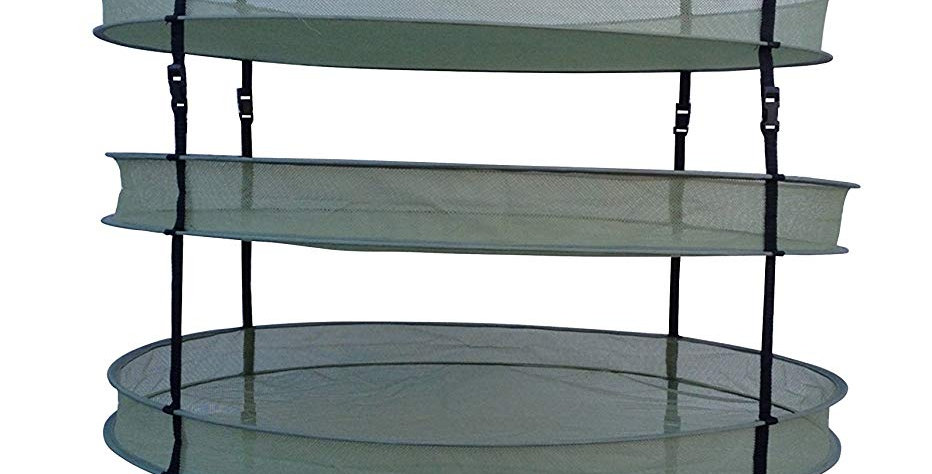 """FARM to GROW 2xPacks 6Tiers 35""""Hanging Drying Rack for Herbs Bud flower Plant"""