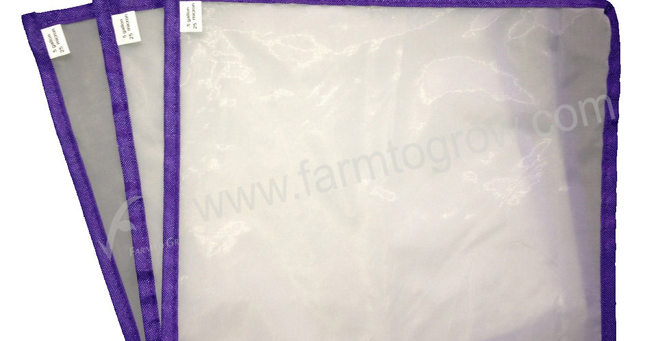 "FARM to GROW 3PCS 9""x9"" 25micron pressing screen for herbal hash bubble ice bag"