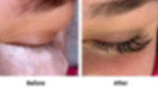 Before and after clien photo classic lash extenstions