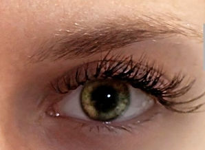 Lush lashes on client from hybrid lash extensions
