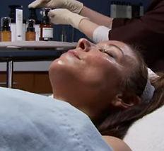 PCA skin clien getting skincare service