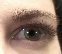 Natural but fuller lashes on client from classic eyelash extensions