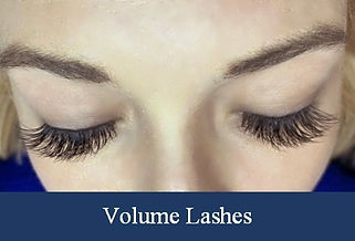 Volume lash extensions on real client