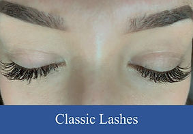 Eyelash extension classic and eyelash fills on a beautiful client