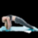 An Extensa instructor performing a reverse plank