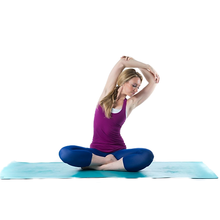 An Extensa instructor performing a seated stretch