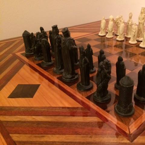 chess table closeup