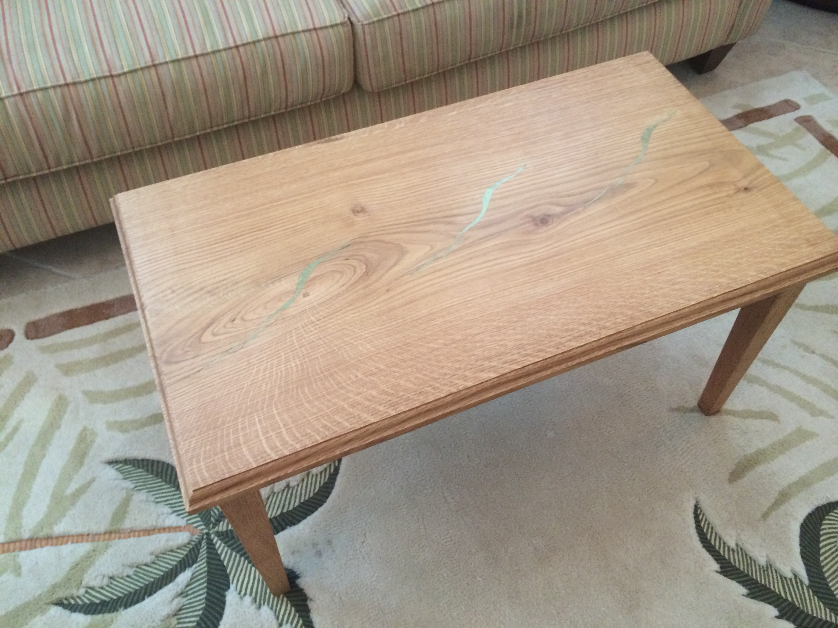 coffee table with inlay