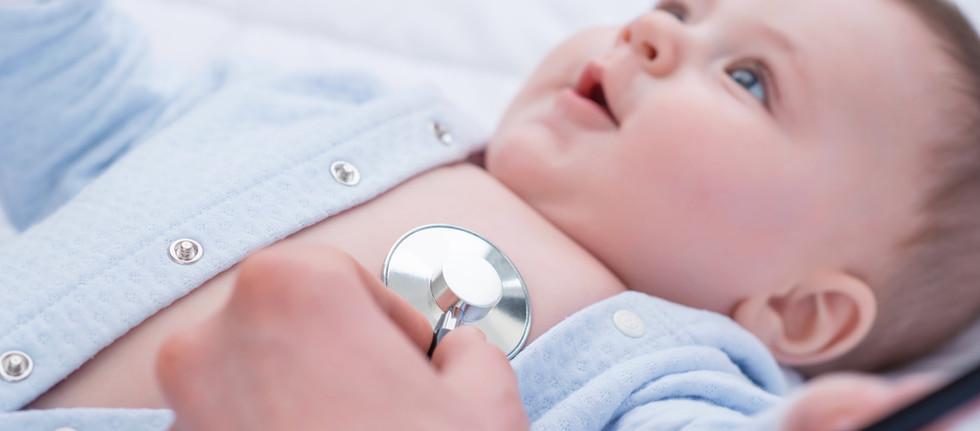 Herzauskultation Säugling