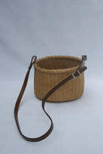 Oval Basket with leather handle