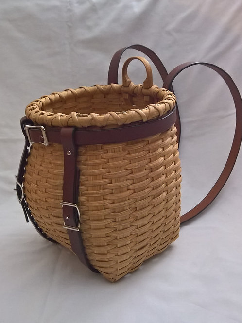Custom Junior Adirondack Pack Basket with Leather Harness to wear