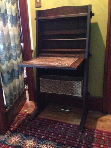 Antique Desk basket was made for