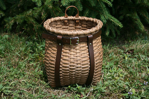 Junior - Decorative Adirondack Pack Basket with Leather Harness