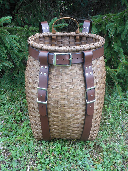 Large - Mountaineer Pack Basket Kit - leather