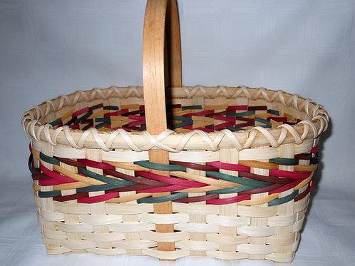 Market Basket with Arrow Basket Pattern