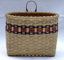 Wall Basket with red pine bark