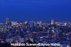 札幌市の夜景