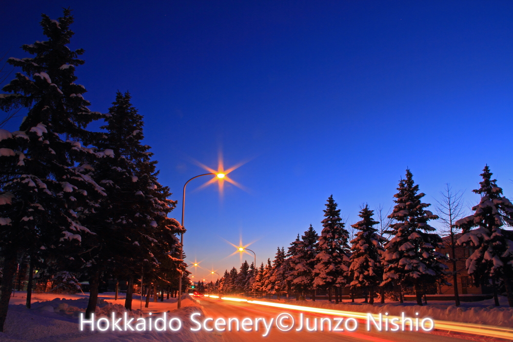 クリスマス・イブの夜景_札幌市北区