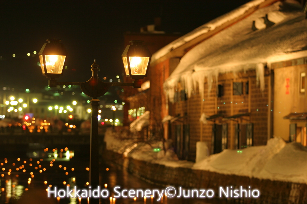 小樽運河夜景_1