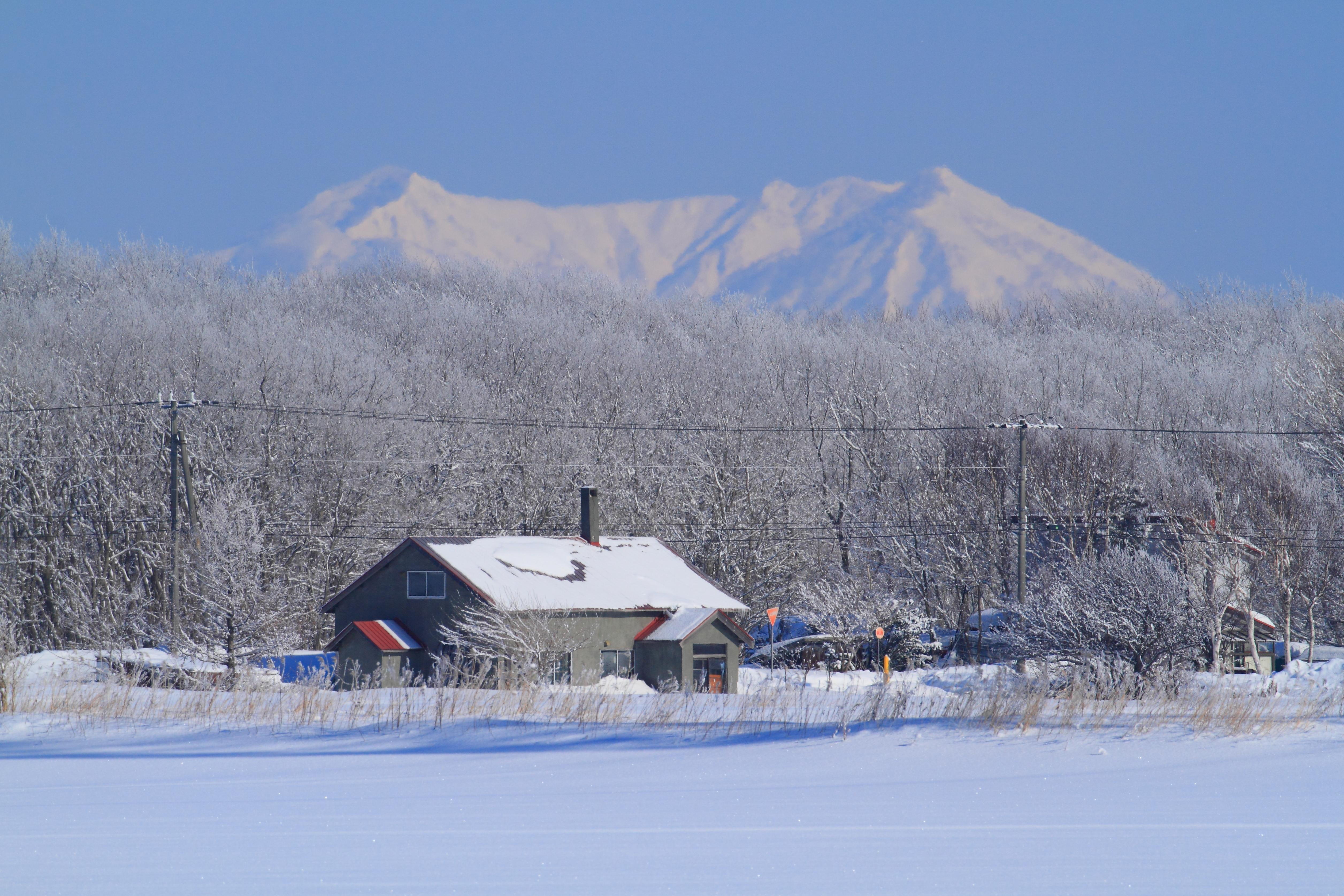 霧氷の朝3_石狩市郊外