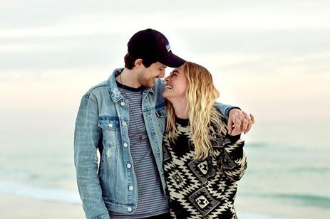 Love portraits at the beach
