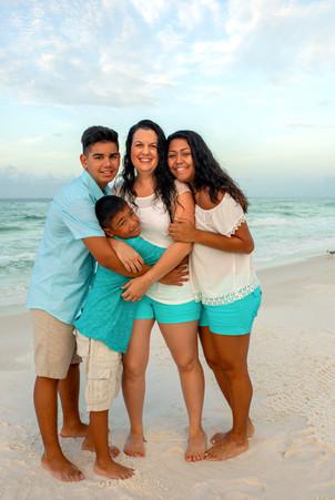 Beautiful beach family portraits