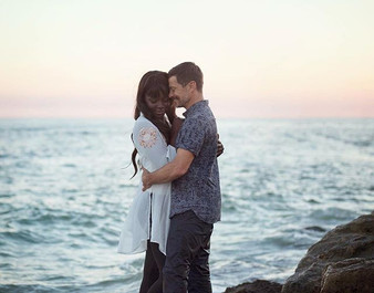 Couples portraits on the beach