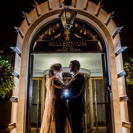 WEDDING RECEPTION AT THE Millenium Gloucester Hotel, Kensington, London, SW7 4LH