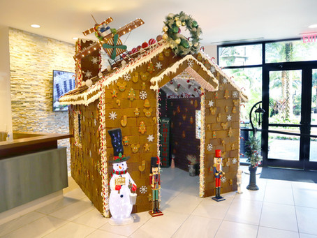 The Grove Resort & Water Park Orlando Kicks-Off The Holidays With Oversized Gingerbread House
