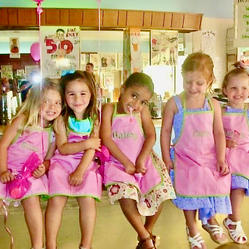 Birthday Party With Custom Aprons