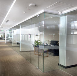 Clear Tempered Glass Partition