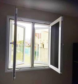 Mesh & Glass Casement Window