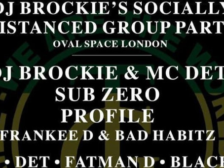 Saturday 24th October - DJ Brockie - Live from the Oval  15:00 – 22:00