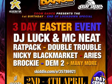 Zoom Dance Big Easter weekender 2nd - 4th April