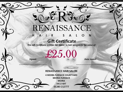 Renaissance Gift Vouchers