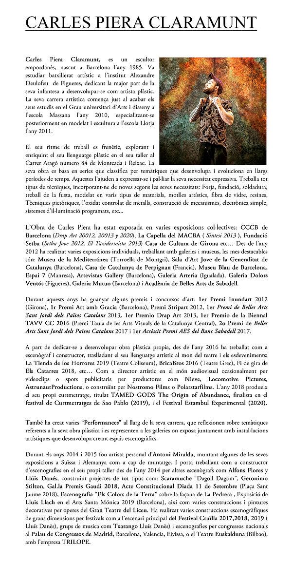 CARLES PIERA CLARAMUNT curriculum català