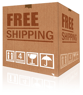 Free-shipping-cardboard-box-isolated-on-