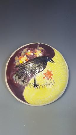 crow plaque