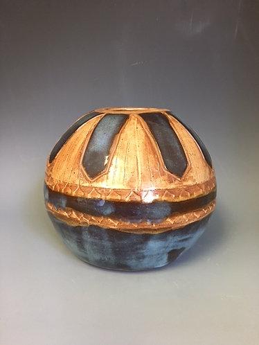 Coil hand built pot