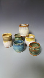 student's wheel thrown bowls